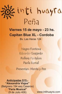 Peña con Inti Huayra