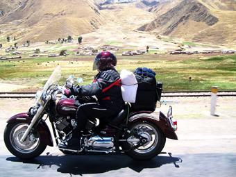 A Cusco (Perú), en moto